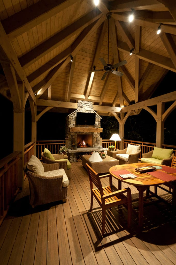 Timber Frame Gazebo Interior