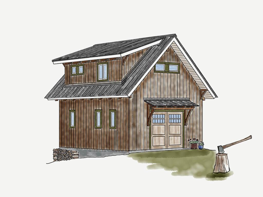 Garage Plan with Apartment