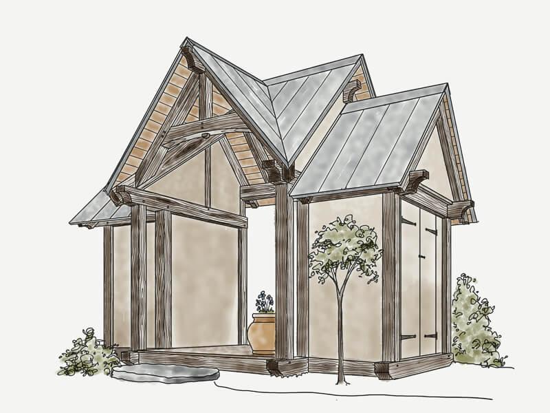 Japenese Tea House, Garden Shed Timber Frame