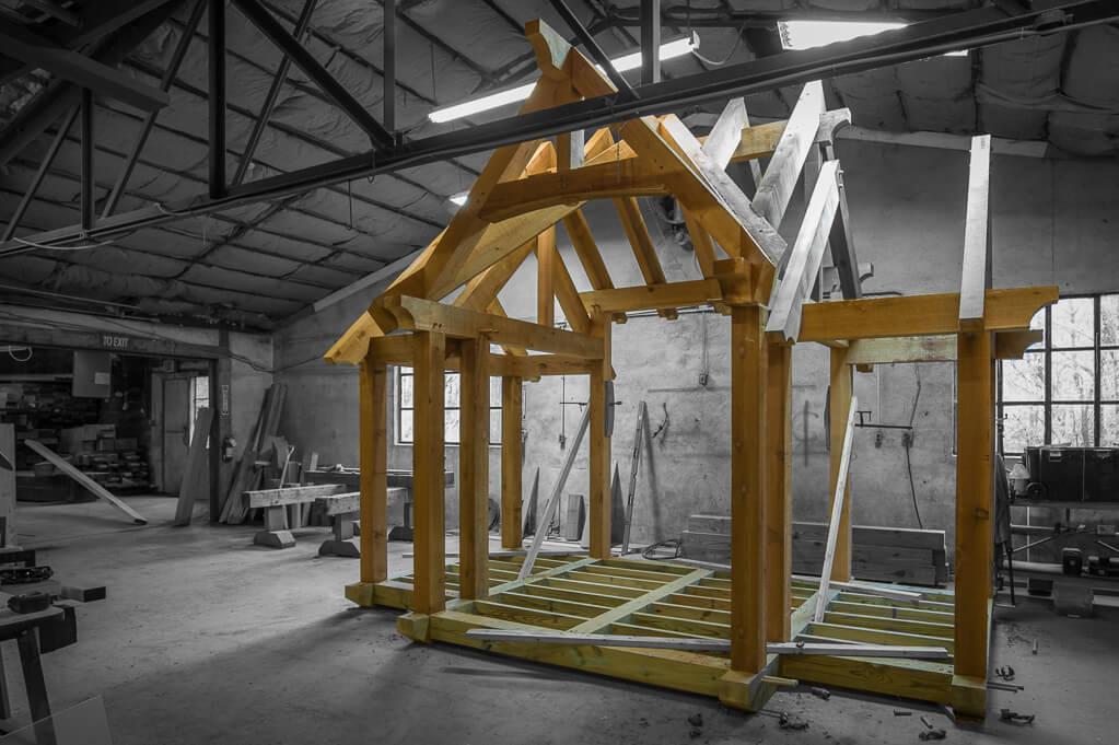 Japanese Tea House Timber Frame
