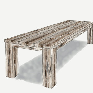Reclaimed Wood Farmhouse Table