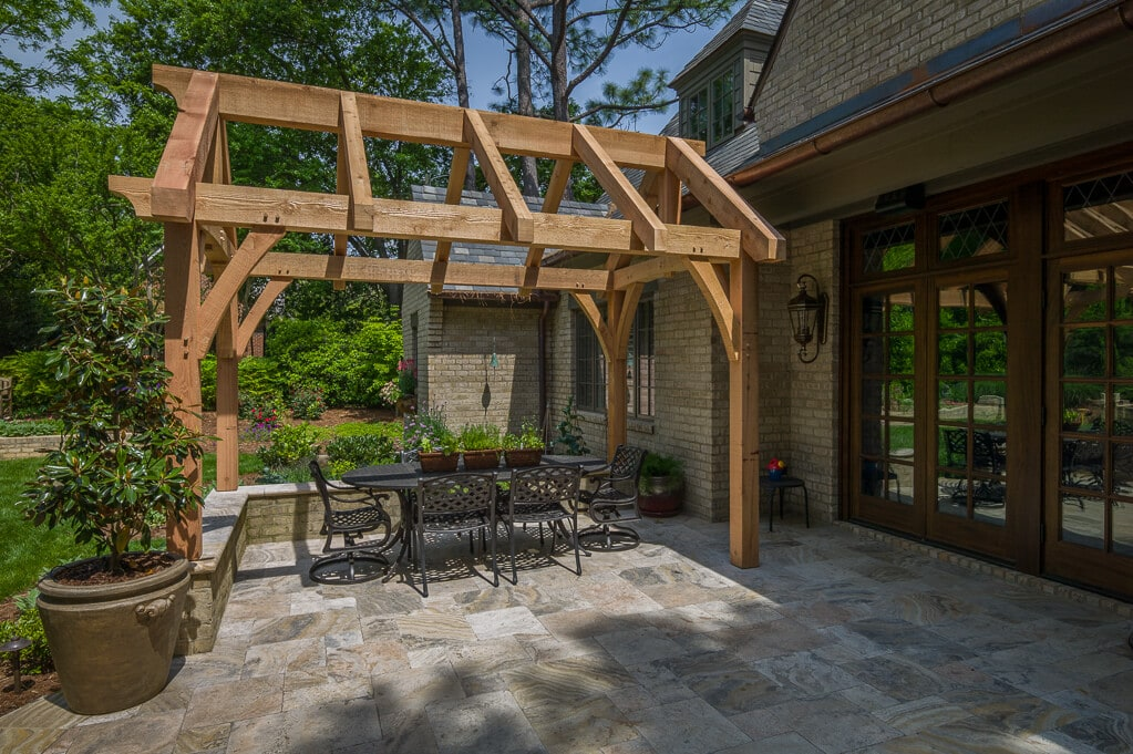 Timber Frame Dining Pavilion