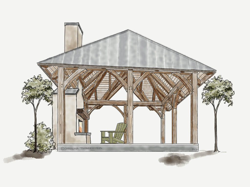Timber Frame Gazebo Kit