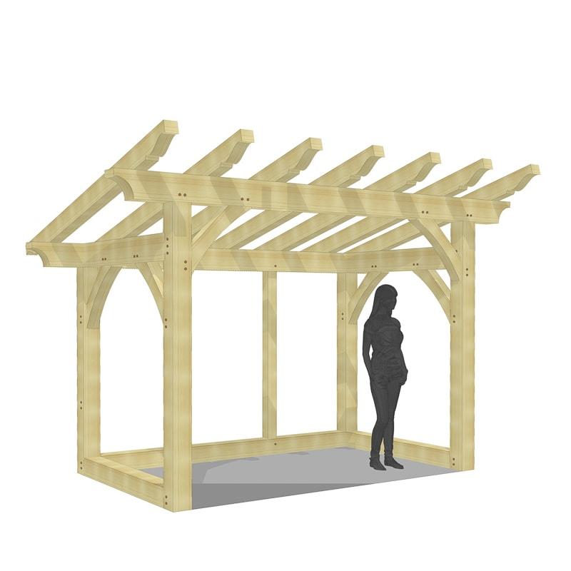 Wood shed timber frame kit