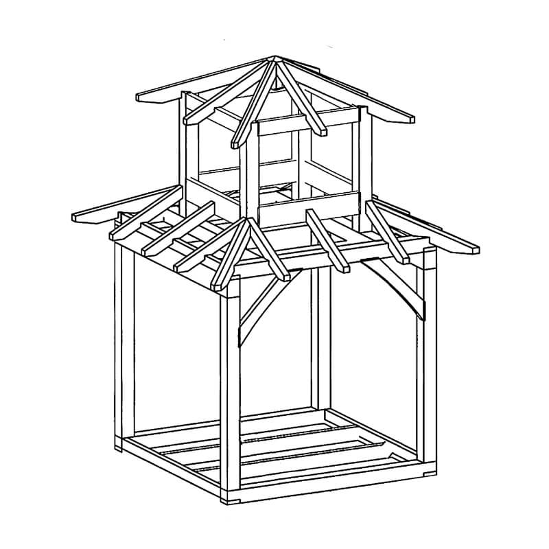 Teahouse Timber Frame Pavilion