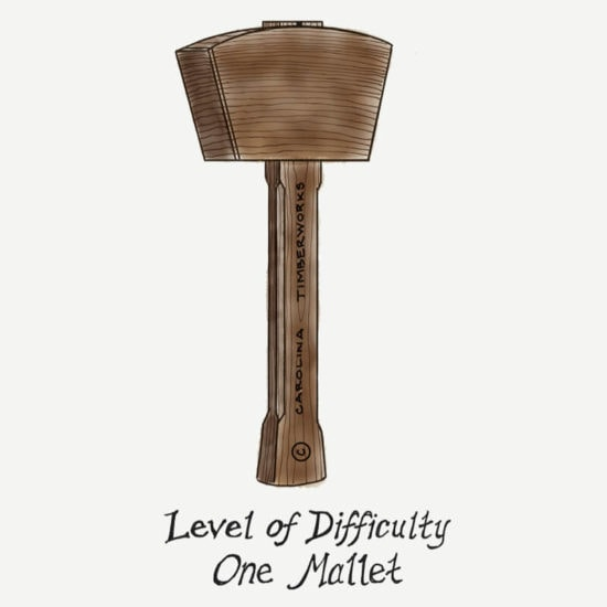 1 timber frame mallet level of difficulty