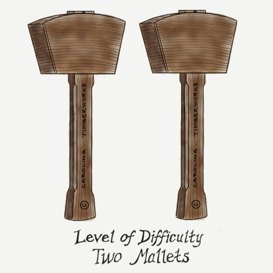 2 timber frame mallets level of difficulty