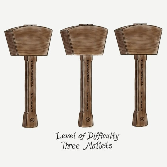 3 timber frame mallet level of difficulty