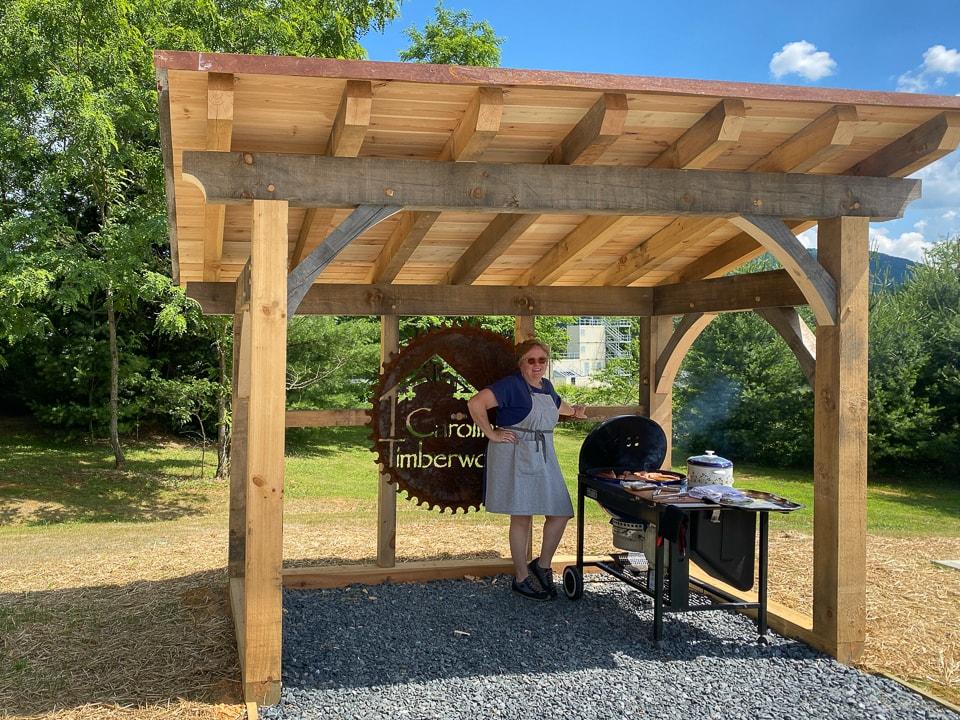Timber Frame Grilling Shed