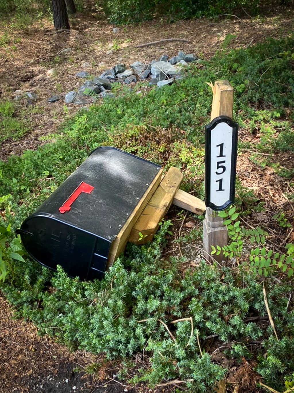 fix a broken mailbox