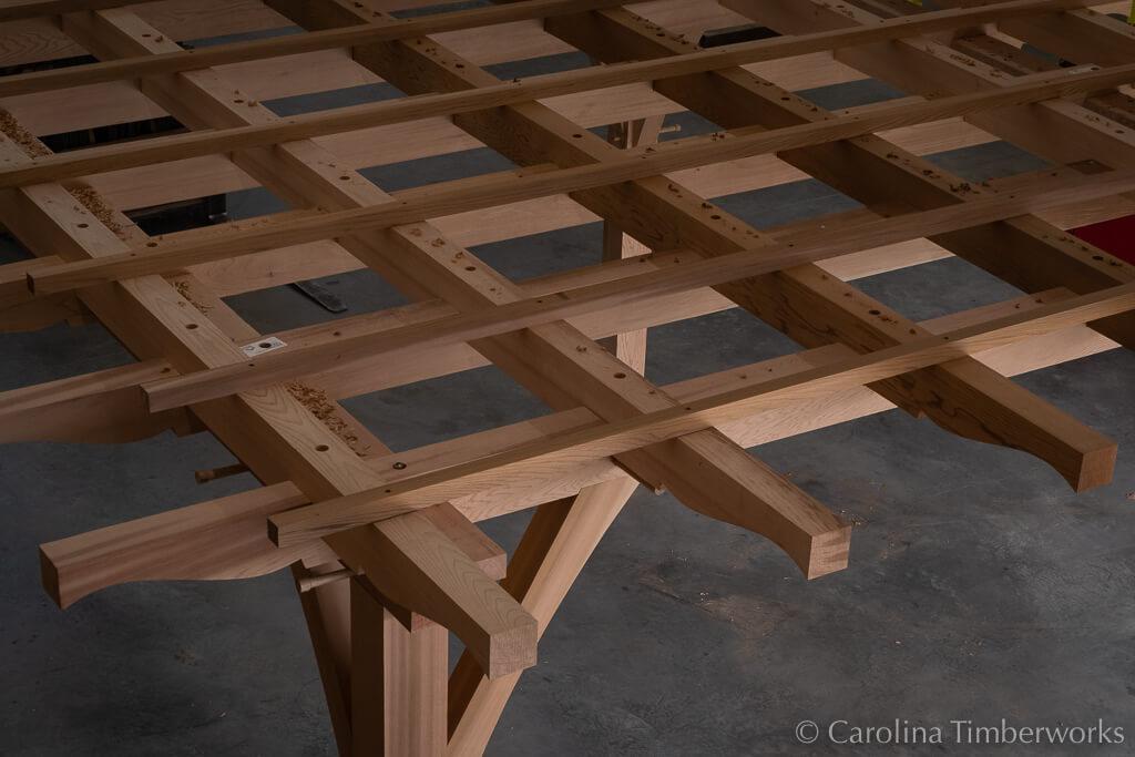 Cedar Pergola Roof Detail