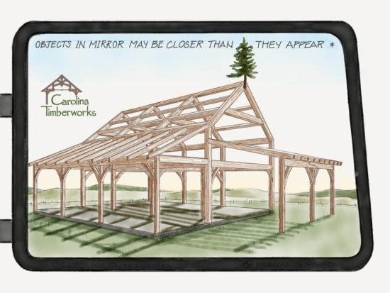 Naked timber frame