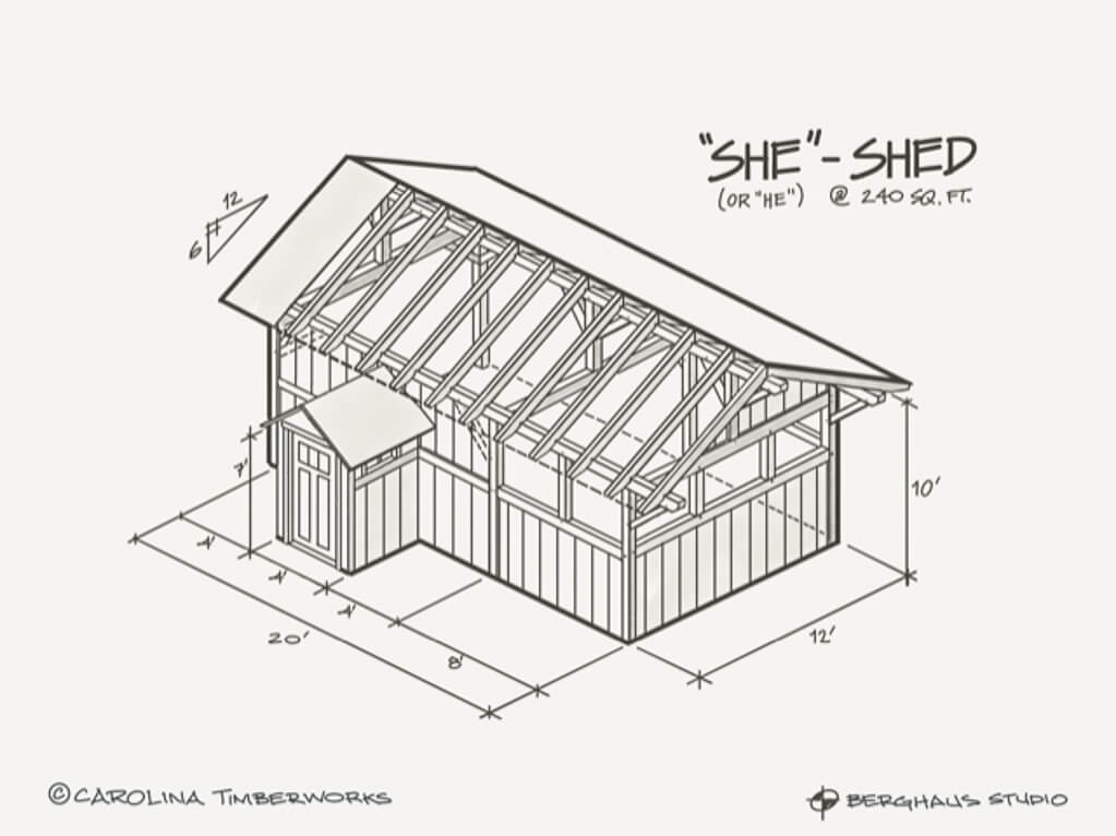 Post and Beam She Shed