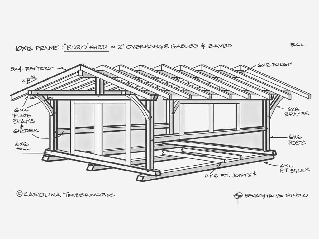 Timber Frame Backyard Shed