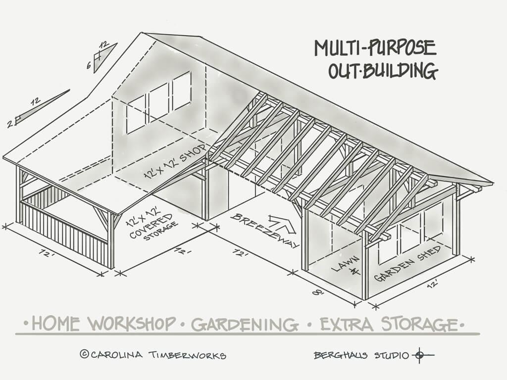 Timber Frame Multipurpose Outbuilding