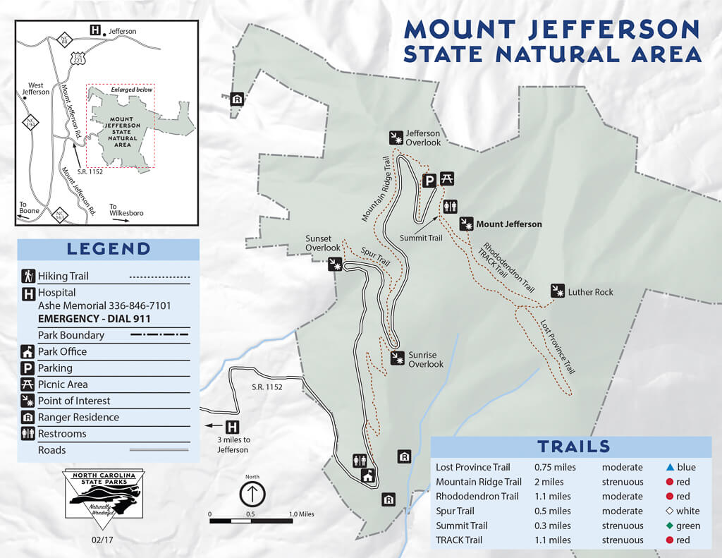 Mount Jefferson Trail Map
