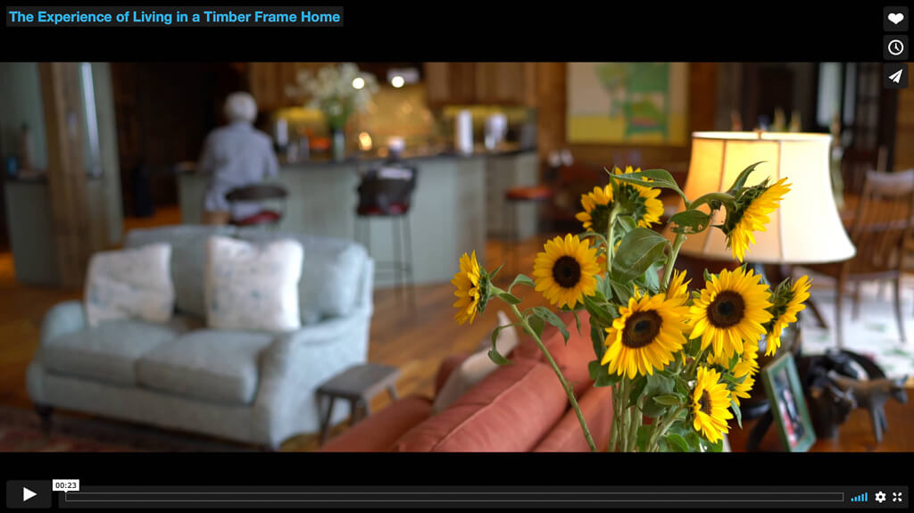 Living in a timber frame home