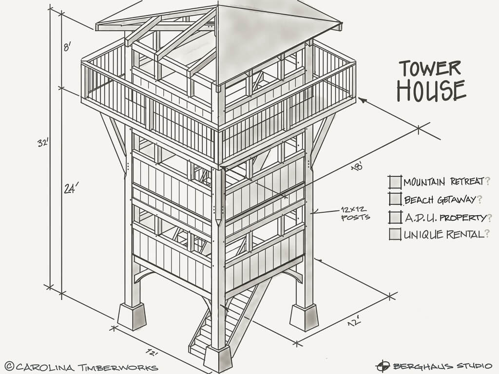 Timber Frame Tower House