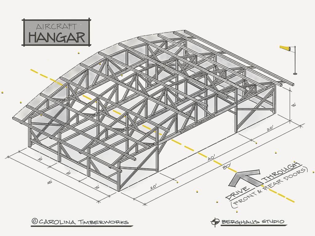 Timberframe Aircraft Hangar
