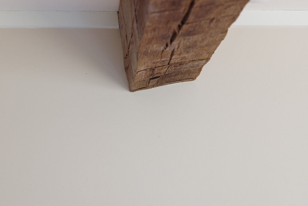 twisted reclaimed beam