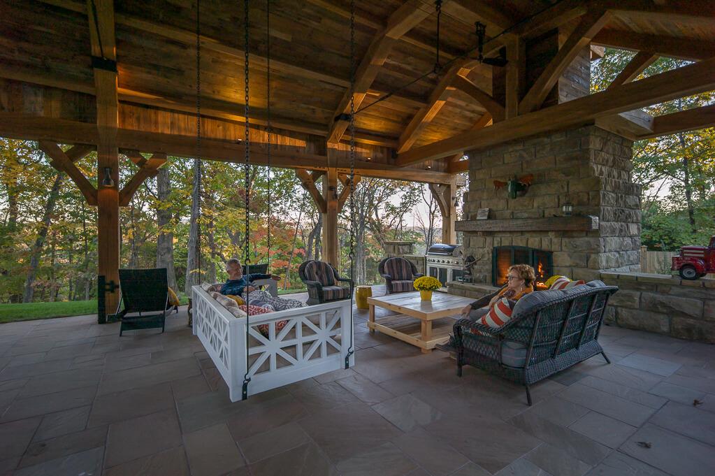 virginia timber frame pavilion