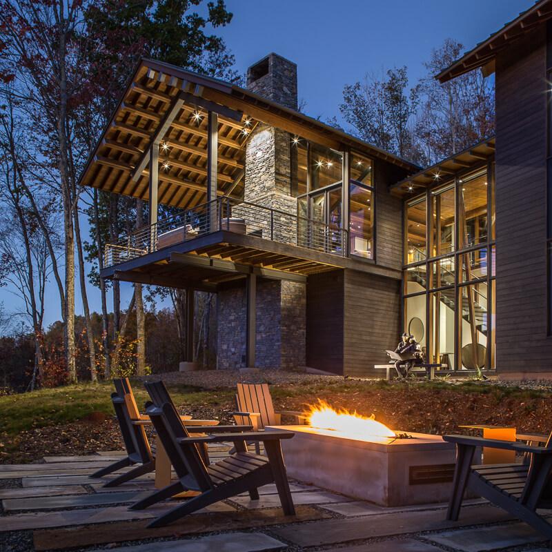modern timber frame porch