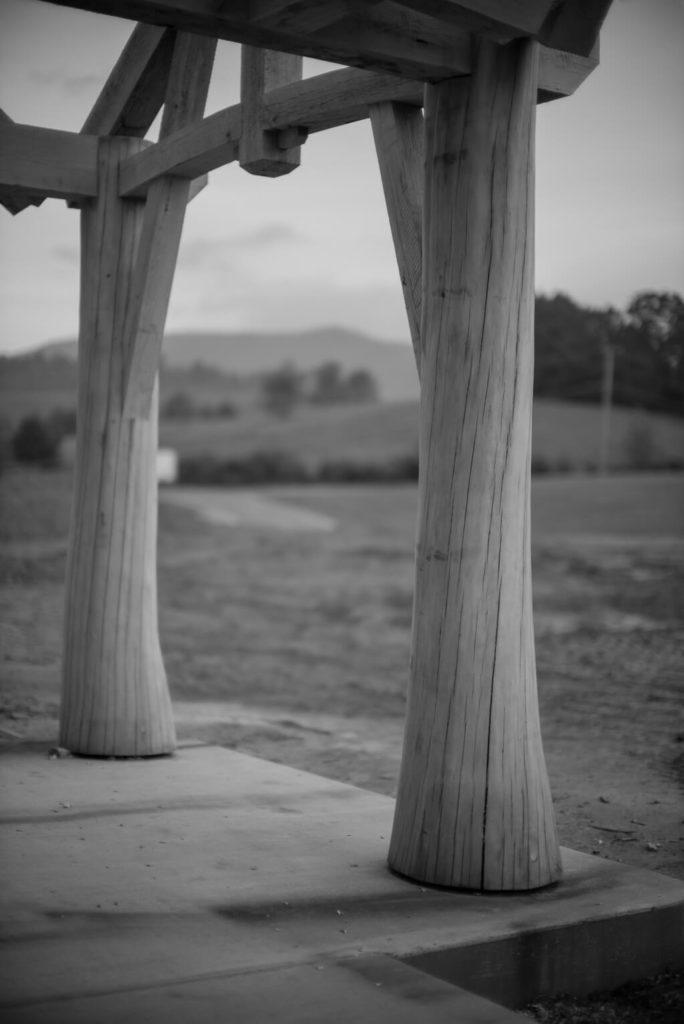 Round Log Timber Frame Entry