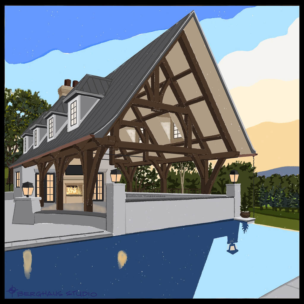 Timber Frame Pavilions and Gazebos