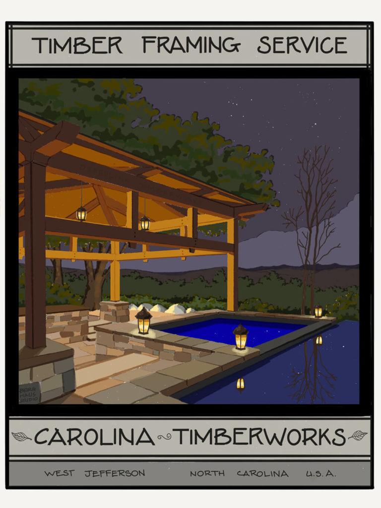 Timber frame Pool Pavilions