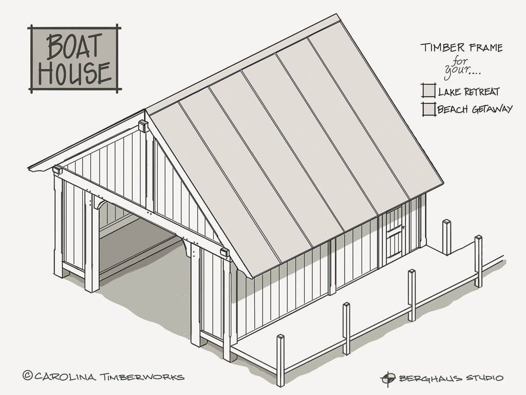 Post and Beam Boathouse