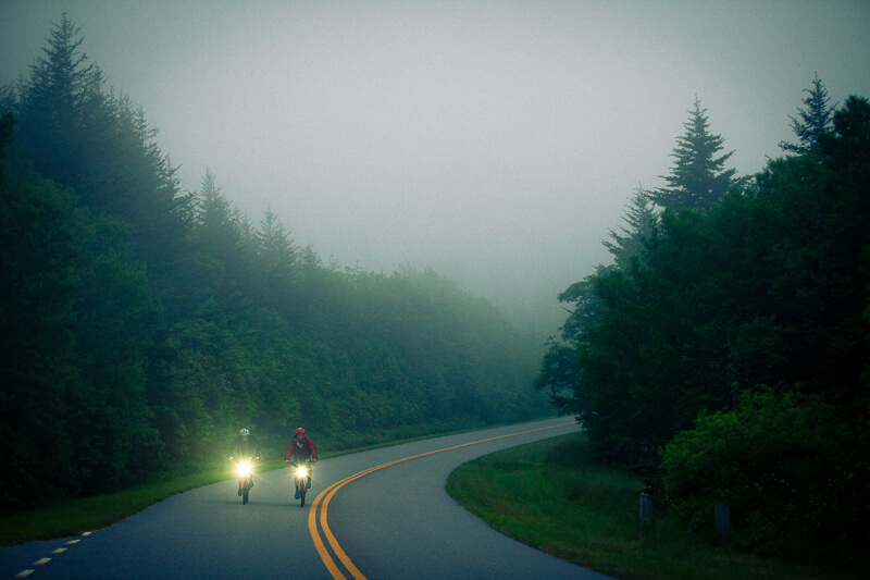 Cycling on Blue Ridge Parkway
